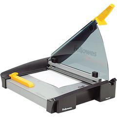 "Fellowes Plasma™ 150 Paper Cutter - 1 x Blade(s)Cuts 40Sheet - 15"" Cutting Length - 5"" Height x 14.5"" Width x 27"" Depth - Metal Base, Stainless Steel Blade - Silver, Black"