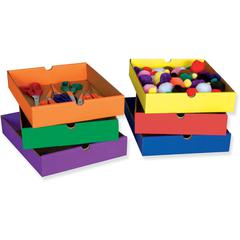 "Pacon Classroom Keeper Drawers - Compartment Size 2.50"" x 10.25"" x 13.25"" - 2.3"" Height x 12.5"" Width x 10.3"" Depth - Recycled - Assorted Drawer, Drawer, Drawer, Drawer, Drawer, Drawer - 6 / Set"