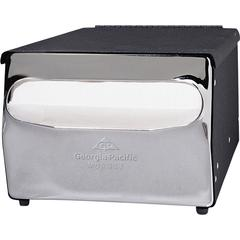 "Georgia-Pacific MorNap Napkin Dispenser - Full Fold Dispenser - 255 x Sheet - 5.9"" Height x 7.9"" Width x 11.5"" Depth - Steel - Black"