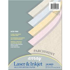 """Pacon Array Bond Paper - Letter - 8.50"""" x 11"""" - 24 lb Basis Weight - Recycled - 10% Recycled Content - 100 / Pack - Parchment"""