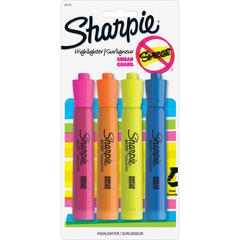 Sharpie Tank Style Accent Highlighters - Chisel Marker Point Style - Yellow, Orange, Pink, Blue - 4 / Pack