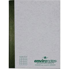 """Roaring Spring Recycled 80 Sheet Composition Book - 80 Sheets - Sewn 7.50"""" x 9.75"""" - Mist Gray Cover - Hard Cover - Recycled - 1Each"""