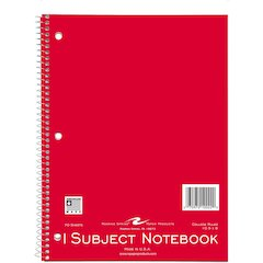 """Roaring Spring 1-subject Spiral Notebook - 70 Sheets - Spiral - 15 lb Basis Weight 8"""" x 10.50"""" - Assorted Cover - 1Each"""