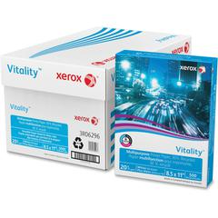 "Xerox Vitality Multipurpose Printer Paper, 30% Recycled - Letter - 8.50"" x 11"" - 20 lb Basis Weight - Recycled - 30% Recycled Content - 92 Brightness - 5000 / Carton - White"