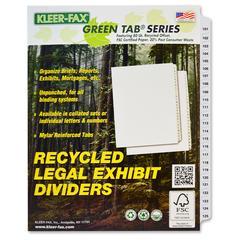 """Kleer-Fax Letter-size Printed Index Dividers - 25 Printed Tab(s) - Digit - 101-125 - 25 Tab(s)/Set - 8.5"""" Divider Width x 11"""" Divider Length - Letter - White Divider - 25 / Set"""
