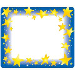 "Trend Star Bright Self-adhesive Name Tags - 3"" Length x 2.50"" Width - Rectangular - 36 / Pack - Assorted"
