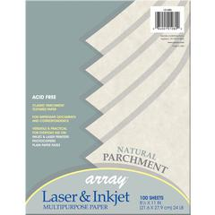 """Pacon Array Bond Paper - Letter - 8.50"""" x 11"""" - 24 lb Basis Weight - Recycled - 10% Recycled Content - Parchment - 1 / Pack - Parchment"""
