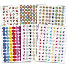 Teacher Created Resources Mini Stickers Variety Pack - Self-adhesive - Acid-free - Assorted - 6 / Pack