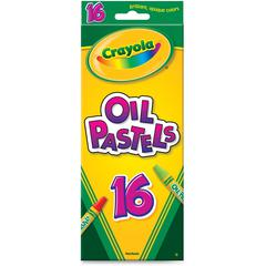 Crayola Opaque Colors Oil Pastels - Assorted, Red Orange, Red-violet, Violet, White, Yellow Green, Yellow-orange, Orange, Pink, Red, Green, ... - 16 / Each