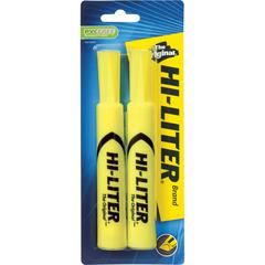 Avery Desk Style Highlighters - Chisel Marker Point Style - Fluorescent Yellow - 1 / Pack
