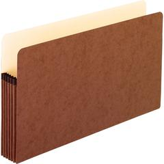 """Pendaflex Redrope File Pockets - Legal - 8 1/2"""" x 14"""" Sheet Size - 5 1/4"""" Expansion - Red Fiber - Red - Recycled - 50 / Carton"""