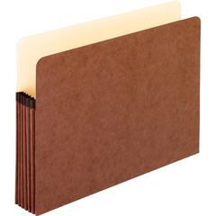 "Pendaflex Redrope File Pockets - Letter - 8 1/2"" x 11"" Sheet Size - 5 1/4"" Expansion - Red Fiber - Red - Recycled - 50 / Carton"