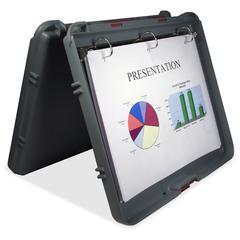 "Saunders RingMate Portable Presentation Desktop - 1"" Binder Capacity - 11 1/4"" x 13 1/2"" Sheet Size - 3 x D-Ring Fastener(s) - Polypropylene - Charcoal Gray - Recycled - 1 Each"