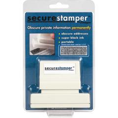 """Xstamper Secure Privacy Stamps - 1"""" Impression Width x 2.18"""" Impression Length - Black - 1 / Pack"""
