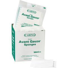"""Medline Avant Sterile Gauze Sponges - 4 Ply - 2"""" x 2"""" - 50/Box - White"""