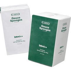 """Medline Caring Non-sterile Gauze Sponges - 12 Ply - 4"""" x 4"""" - 200/Box - White"""