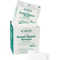 """Medline Avant Sterile Gauze Sponges - 4 Ply - 4"""" x 4"""" - 50/Box - White"""