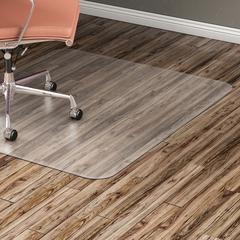 """Lorell Hard Floor 60"""" Rectangular Chairmat - Hard Floor, Wood Floor, Vinyl Floor, Tile Floor - 60"""" Length x 46"""" Width x 95 mil Thickness - Rectangle - Vinyl - Clear"""
