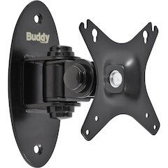 """Buddy Wall Mount for Flat Panel Display - 26"""" Screen Support - 88 lb Load Capacity - Black"""