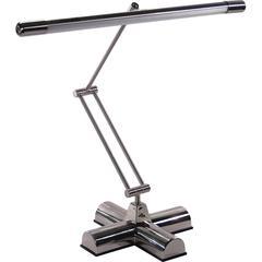 Advantus Desk Lamp - 1 x 13 W Bulb - Brushed Steel - Adjustable - Desk Mountable - Silver