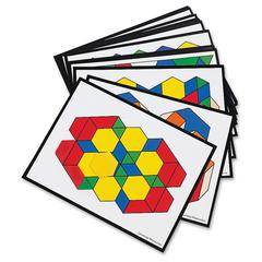 Learning Resources Pattern Block Activity Cards - Theme/Subject: Learning - Skill Learning: Patterning, Reasoning - 7+