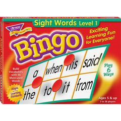 T-6064 Sight Words Bingo Game - Theme/Subject: Learning