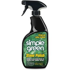 Simple Green Stone Polish - Spray - 0.25 gal (32 fl oz) - 12 / Carton - Clear