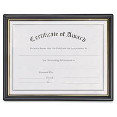 "Nu-Dell Framed Achievement/Appreciation Awards - 11"" x 8.50"" Frame Size - Rectangle - Wall Mountable - Hanger - 1 / Carton - Plastic, Plastic - Black, Gold"