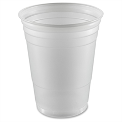 Dart Disposable 16 oz. Plastic Cup - 16 fl oz - 1000 / Carton - Translucent White - Polystyrene - Cold Drink