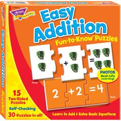 Trend Easy Addition Fun-to-Know Puzzles - Theme/Subject: Learning - Skill Learning: Addition, Number Recognition - 45 Pieces