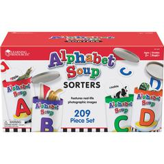 Learning Resources Alphabet Soup Sorters Skill Set - Theme/Subject: Learning - Skill Learning: Alphabet, Letter Sound, Shape, Vocabulary, Oral Language, Sorting, Motor Skills