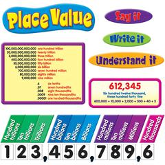 Trend Place Value Bulletin Board Set - Theme/Subject: Learning - Skill Learning: Decimal, Color, Mathematics, Chart - 77 Pieces