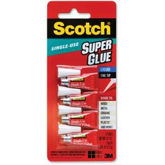 Scotch Single-Use Super Glue - 0.02 oz - 4 Tube - Clear