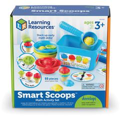 Learning Resources Smart Scoops Math Activity Set - Theme/Subject: Learning - Skill Learning: Mathematics, Counting, Sorting, Sequencing, Twist, Color Identification, Educational, Stacking - 55 Pieces