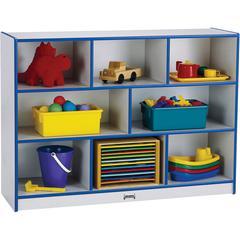 "Jonti-Craft Rainbow Super-sized Mobile Storage - 35.5"" Height x 48"" Width x 15"" Depth - Blue - Hard Rubber - 1Each"