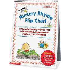 "Scholastic Res. Nursery Rhyme Flip Chart - 15"" Width x 20.8"" Height"