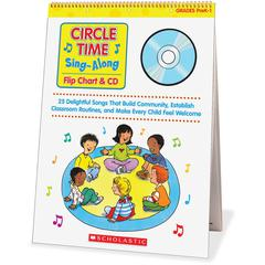 Scholastic Res. Circle Time Sing-Along Flip Chart Education Printed/Electronic Book by Paul Strausman - CD-ROM, Book - 26 Pages