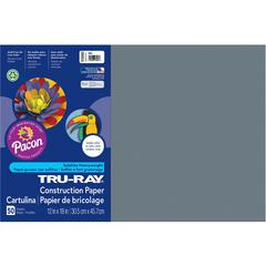 "Tru-Ray Construction Paper - Project, Bulletin Board - 12"" x 18"" - 50 / Pack - Slate Gray - Sulphite"