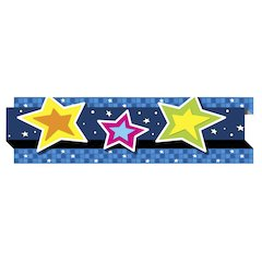 "Carson-Dellosa Pop-Its Borders - (Star) Shape - Die-cut, Easy to Use - 3"" Width x 36"" Length - Assorted - 1 / Pack"