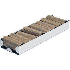 Aluminum Rolled Coin Storage Tray - Gray - Aluminum