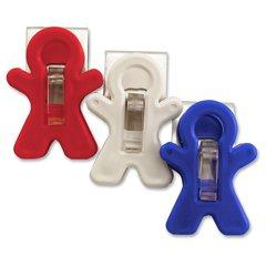 Adams All-American Magnet Man - for Home, Office, School, Artwork, Memo, Paper, Calendar, Photo - 3 / Pack - Red, White, Blue - Polypropylene, Polycarbonate, Steel, Ceramic Magnet