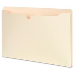 "SJ Paper 1-1/2"" Expanding Manila File Jackets - Legal - 8.50"" x 14"" Sheet Size - 1.50"" Expansion - 1 Pocket(s) - Straight Tab Cut - 11 pt. Folder Thickness - Manila - Manila - Recycled - 50 / Carton"