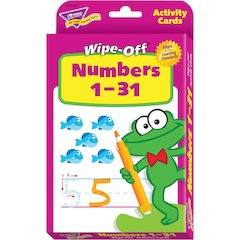 Trend Numbers 1-31 Wipe-off Activity Cards - Theme/Subject: Learning - Skill Learning: Color, Numeric, Number - 3+