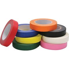 "ChenilleKraft Masking Tape Assortment - 1"" Width x 60 yd Length - 8 / Set - Assorted, Black, Blue, Green, Yellow, Orange, White, Pink"