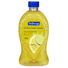 Liquid Hand Soap Odor Neutralizing Kitchen Fresh Hands - Fresh Citrus Scent - 28 fl oz (828.1 mL) - Pump Bottle Dispenser - Odor Remover, Dirt Remover, Bacteria Remover - Hand - Yellow - Anti