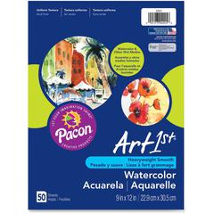 "Art1st Fine Art Paper - 9"" x 12"" - 90 lb Basis Weight - Vellum - 50 / Pack - White"