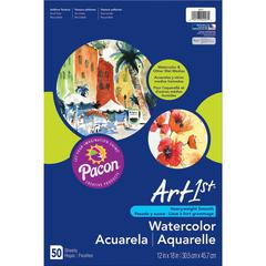 "Art1st Fine Art Paper - 12"" x 18"" - 90 lb Basis Weight - Vellum - 50 / Pack - White"
