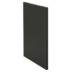 """HON Initiate Station-to-go Slotted End Panel - 24"""" Width x 1.12"""" Depth x 29"""" Height - Charcoal Gray"""
