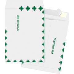 "Business Source DuPoint Tyvek Catalog Envelopes - First Class Mail - 9 1/2"" Width x 12 1/2"" Length - Peel & Seal - Tyvek - 100 / Box - White"