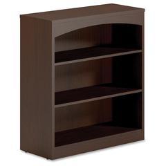 "Mayline Brighton BTB3S36 Bookcase - 36"" Width x 15"" Depth x 39.5"" Height - Wood - Laminate, Mocha"